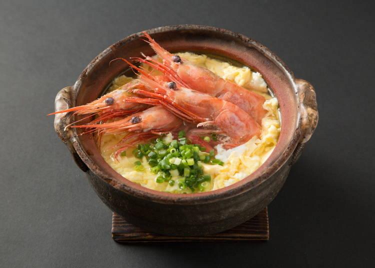 4.於「IKURA亭(いくら亭)」內品嘗熱騰騰的甜蝦雜燴粥