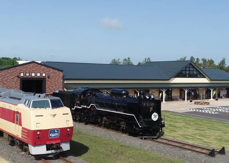 展示著鐵道的「休憩站 安平D51 車站」