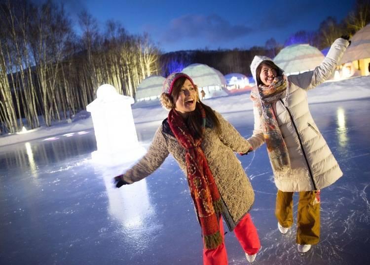 還有冰上的各式活動!