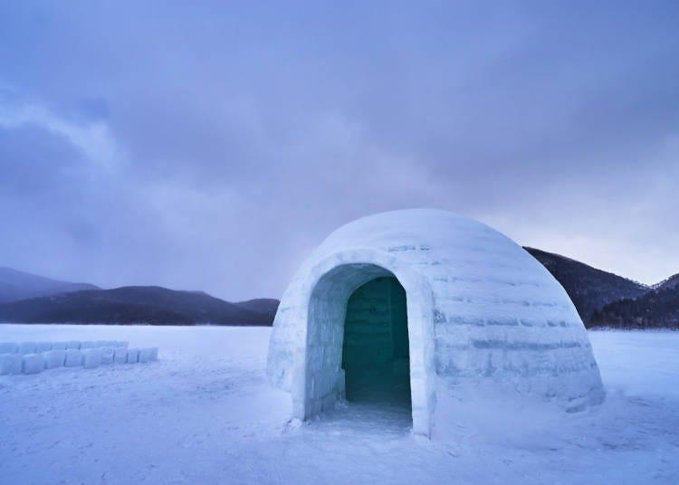 5. 「雪屋」等設施,讓我們暫時沉浸於冰之世界吧