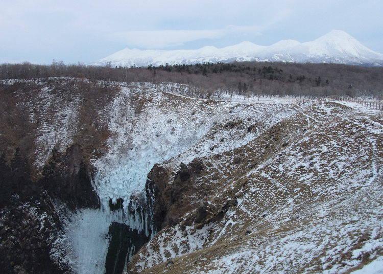 3. 從冰瀑上眺望流冰的「Furepe瀑布」