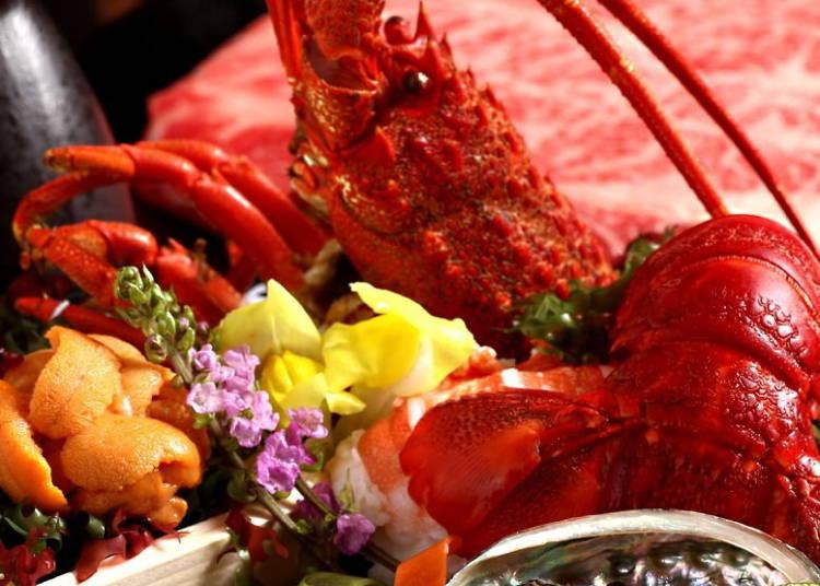 3.肉寿司、焼鳥、牛豚しゃぶなど92種類が食べ放題!「海鮮と炭焼 珀や(ひゃくや)本邸」