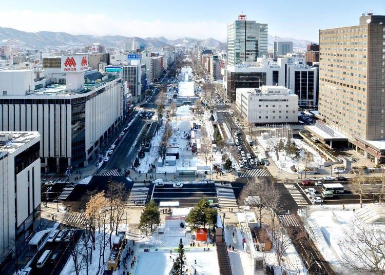 札幌雪祭3大會場&前往交通方式:大通、薄野、TSUDOMU