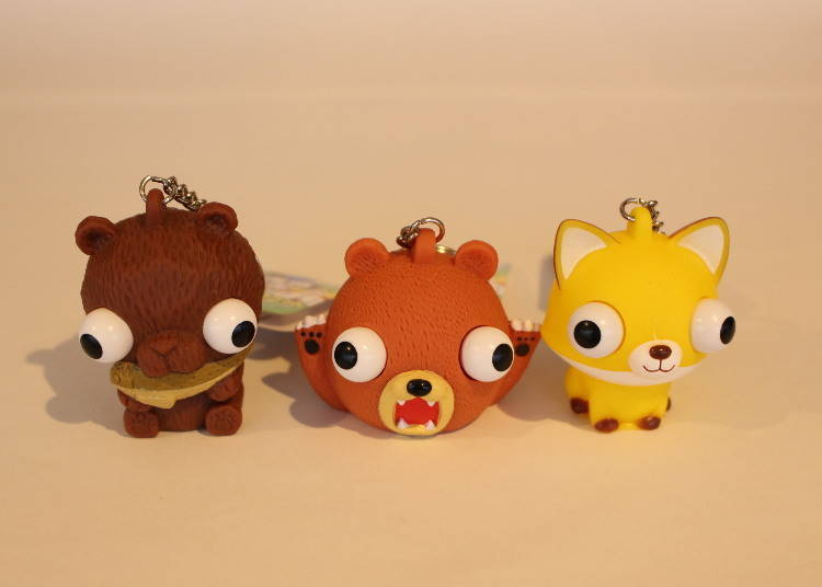 """""""Pop Out Mascot Keychain"""" with Crazy Eyes"""