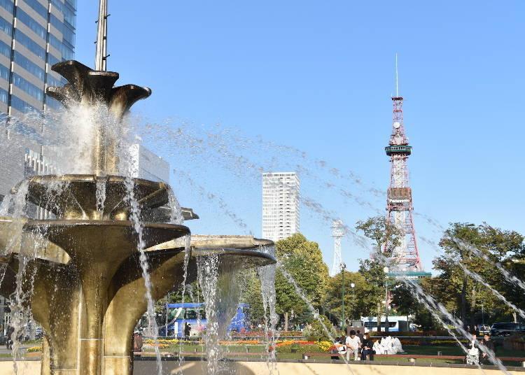 11:00  Stroll around Odori Park