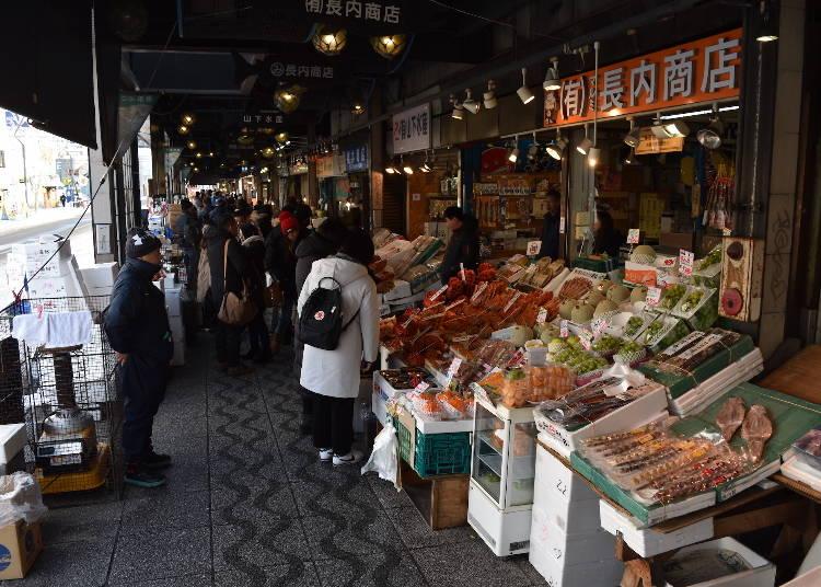 13:00 二条市場で海鮮グルメランチ