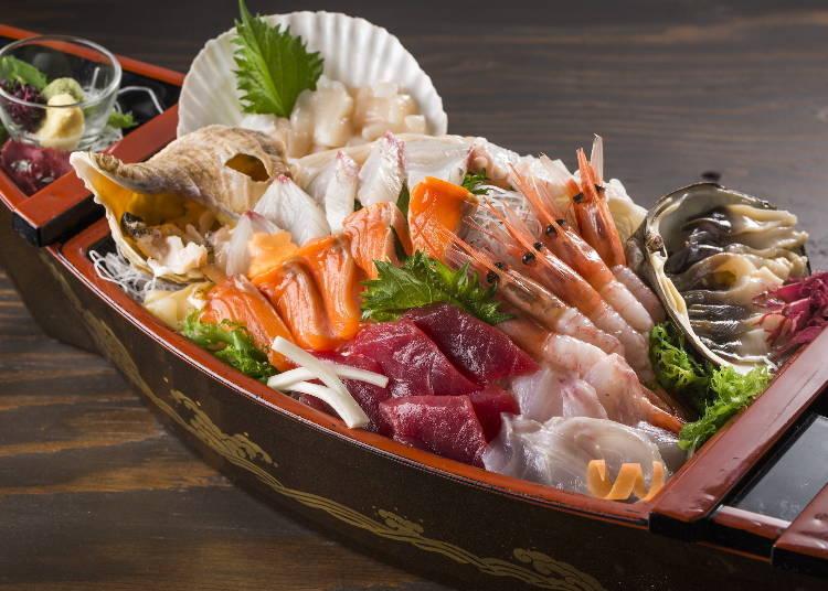 20:00 스스키노에서 홋카이도의 맛있는 현지 음식과 향토주를 만끽하자
