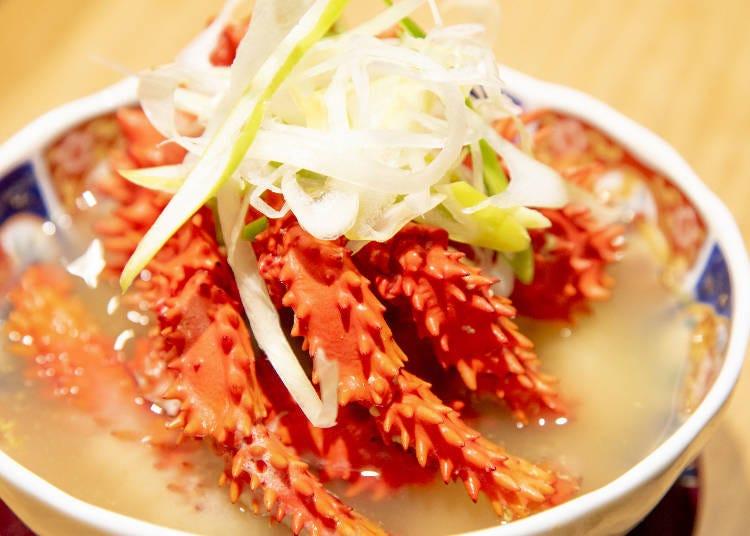 根室名產‧花咲螃蟹的「鐵炮汁(鉄砲汁)」