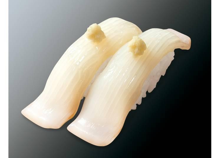 搭配著濃郁香氣的山芥末就是北海道流「北魷山芥末」