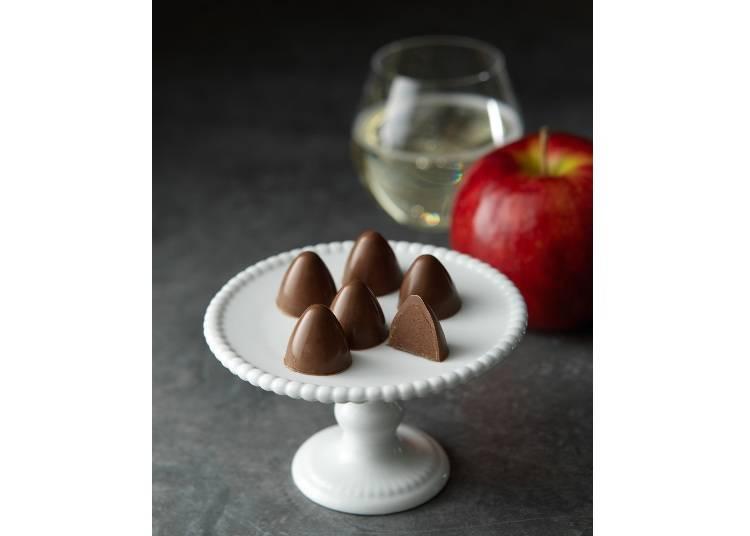 3.余市産リンゴのさわやかな風味が広がる「ルシードル」