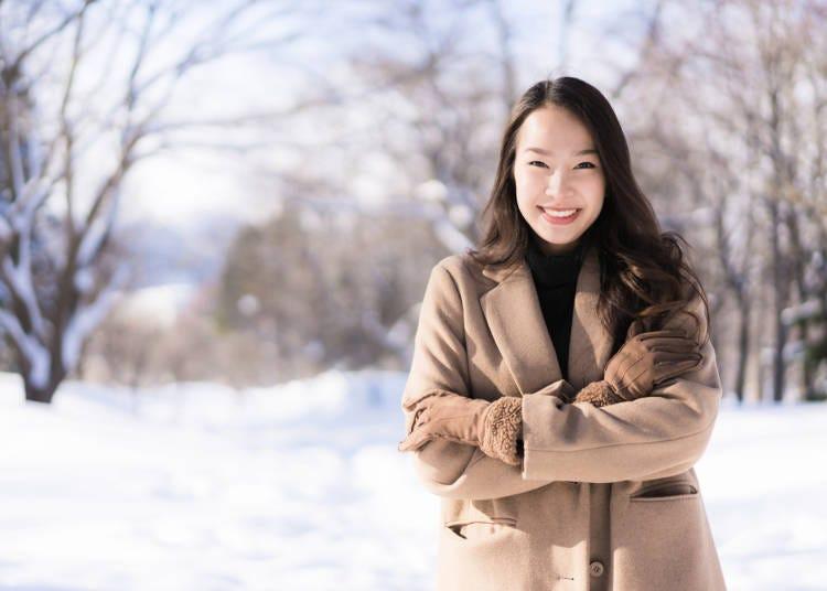5.한겨울인데 옷을 얇게 입은 일본인들이 많아 놀랐어요!