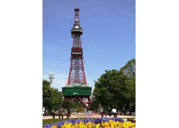 ■출발 지점: 삿포로의 대표적인 경관하면 바로 '삿포로 텔레비전탑'