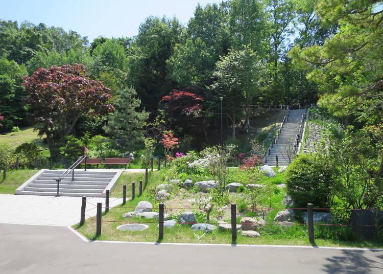 「北海道馬拉松」路線南側:「天神山綠地」與「平岸天滿宮」