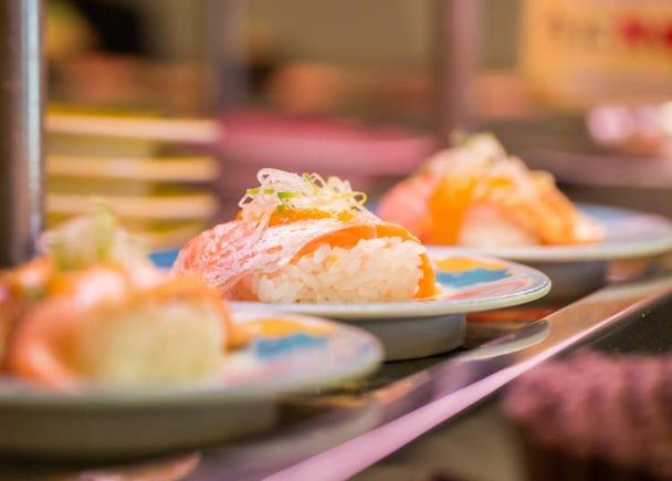8. Eat luxurious conveyor belt sushi