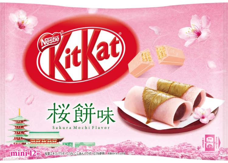 New Japanese KitKats feature sakura sake and a traditional cherry blossom dessert