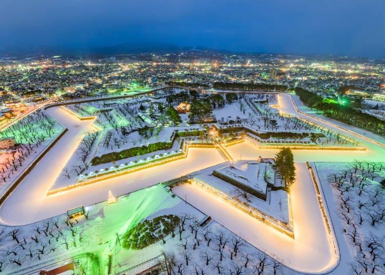 北海道冬季(12月、1月、2月)的平均氣溫與降水量