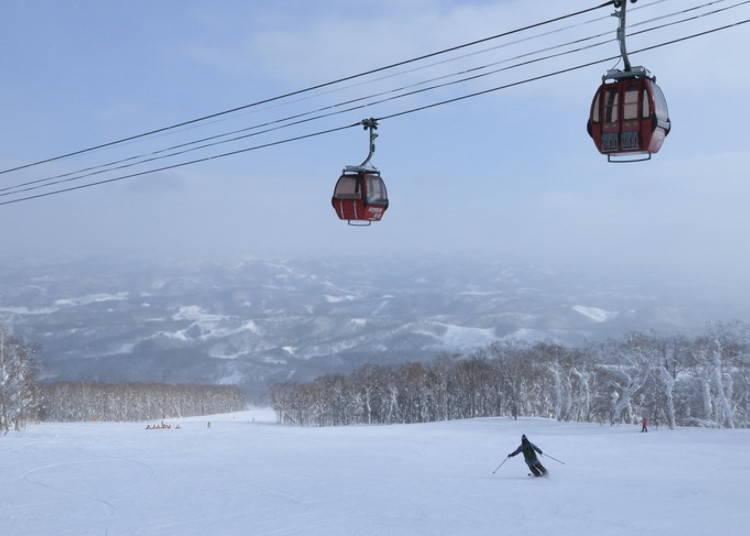 留壽都滑雪場④ISOLA山|STEAMBOAT A滑雪道:從東山方便前往的寬闊型長距離滑雪道