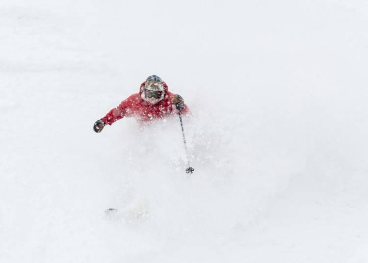 留壽都滑雪場⑤東山|SUPER EAST滑雪道:等著高手來挑戰留壽都最陡的斜坡