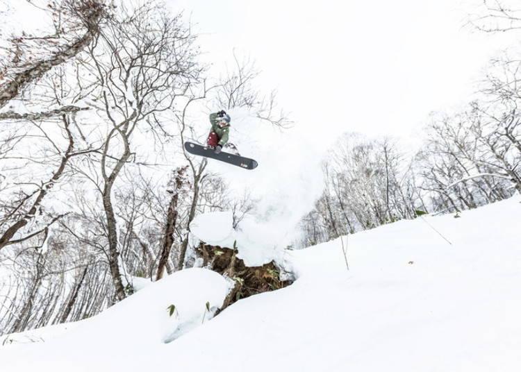 留壽都滑雪場⑧西山|Side Country Park:活用粉雪滑雪道、地形讓你盡情跳躍的未壓雪區域