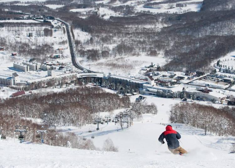 留壽都滑雪場⑨西山|EVA滑雪道:可以感受速度感的直線滑雪道