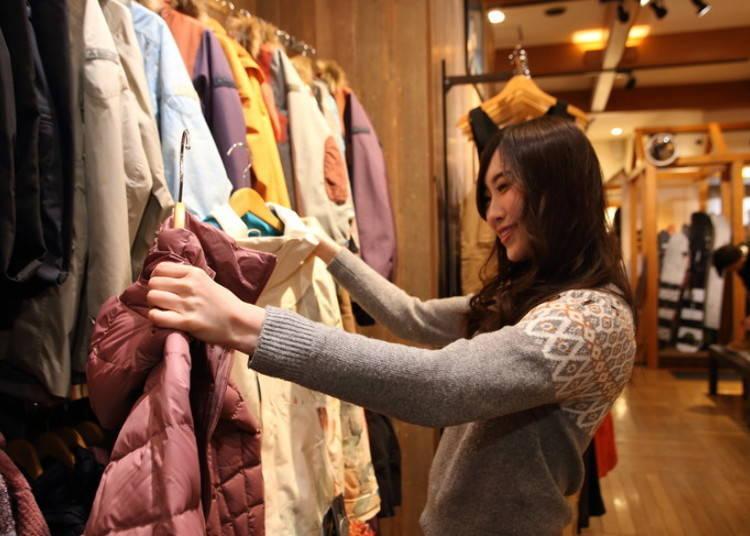 유명 브랜드 숍에서 즐기는 쇼핑
