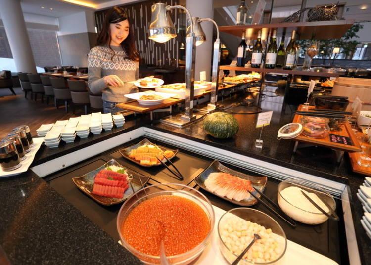 홋카이도의 제철 별미를 만끽할 수 있는 레스토랑 '아트리움'