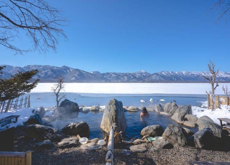 2.進入位於大自然裡的溫泉時,請以安全為優先考量