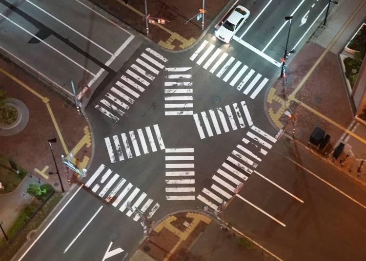 北海道自駕遊注意事項4. 注意十字路口