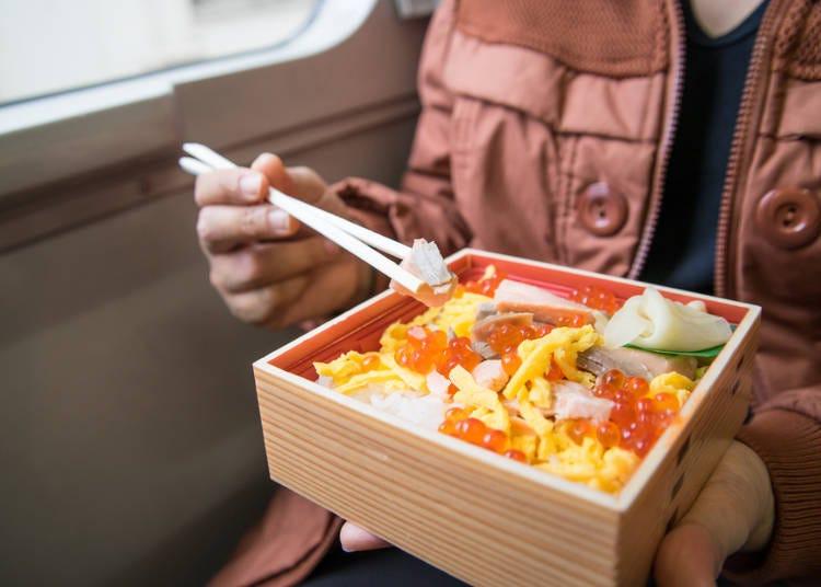 홋카이도의 향토요리가 듬뿍 담긴 '에키벤'도 최고!