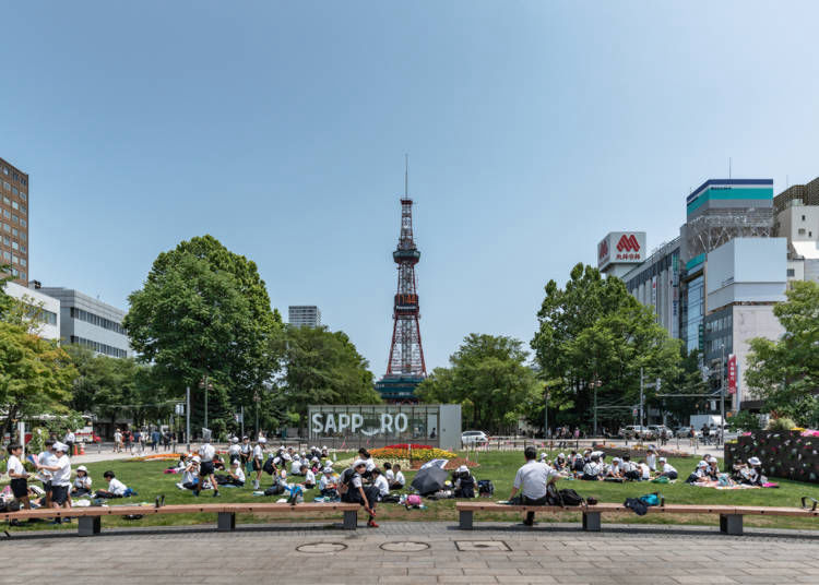 Hokkaido in summer is a popular time for Chinese getaways