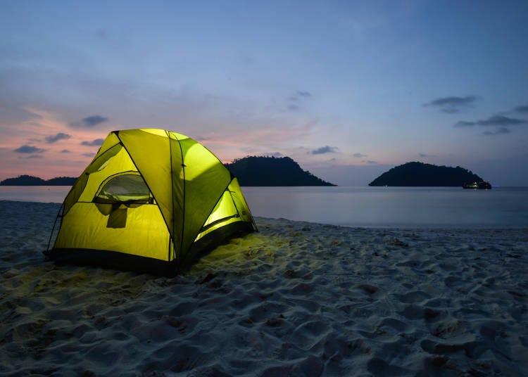 北海道の人が海水浴場でキャンプすることに驚いた!