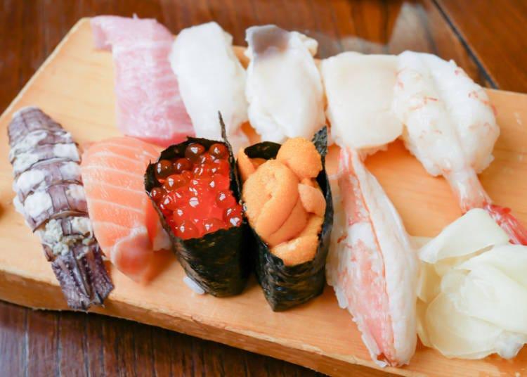 4.초밥집이 줄지어 이어져 있는 '오타루 스시야도리'에서 제철 초밥을 맛보다