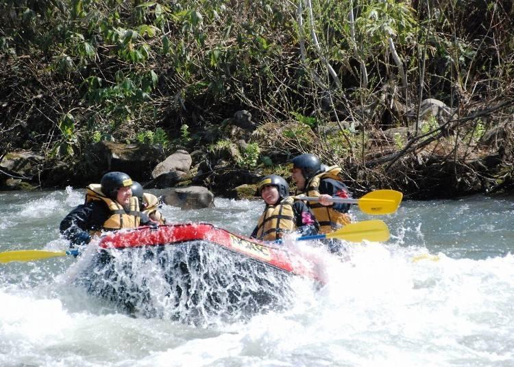 3. Enjoy rafting near Mt. Yotei