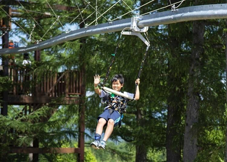7.ニセコビレッジ自然体験グラウンド「ピュア」で、様々なアクティビティを体験