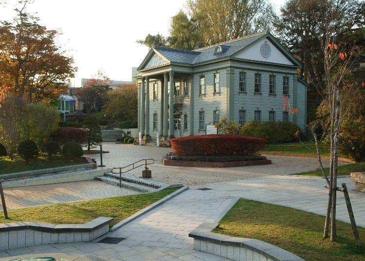 (3)서양식 거리 풍경과 단풍 '모토마치 공원 주변'