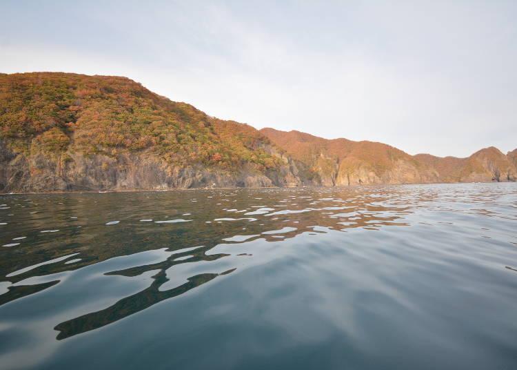 (7)바다 위에서 바로 본 절경 '이와베 해안'