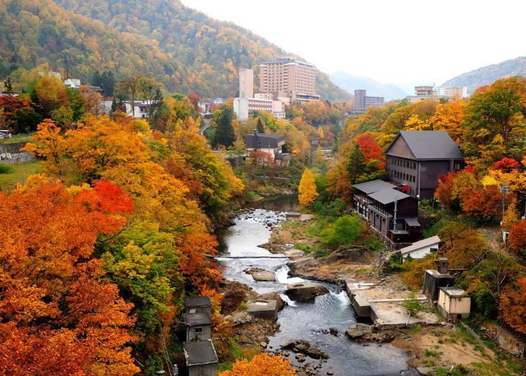 北海道道央紅葉景點③溫泉街的紅葉「定山溪」(札幌)