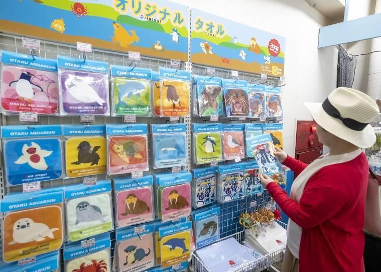 小樽水族館看點⑩旅行的紀念品就來這裡,館內商店