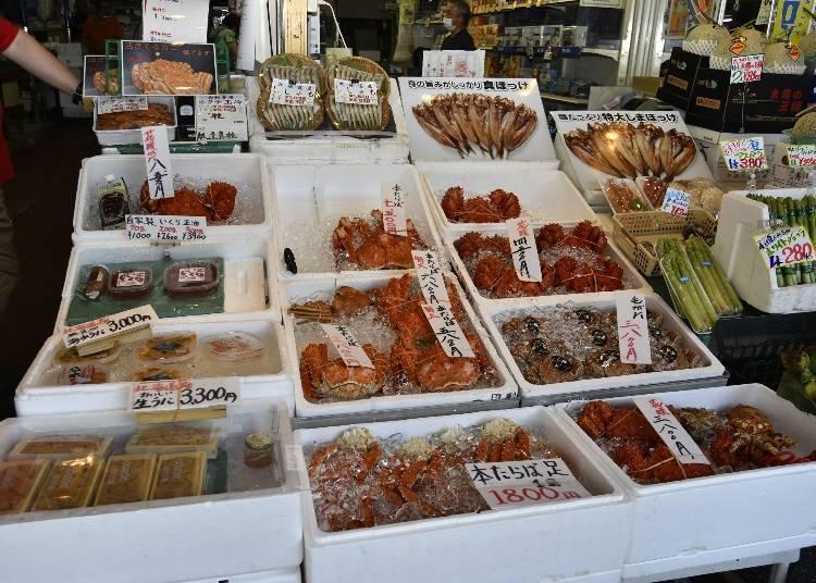 홋카이도에서 먹을 수 있는 게의 종류와 제철