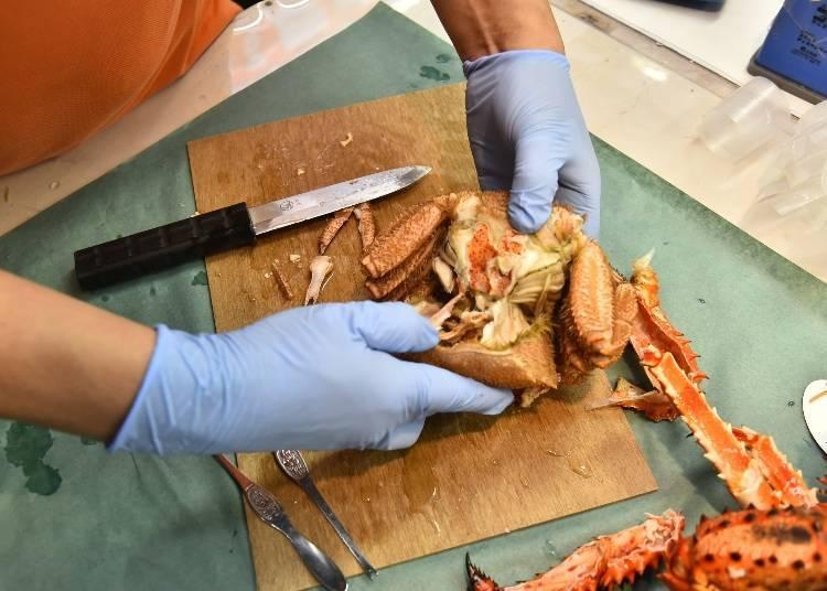 毛蟹蟹膏的吃法