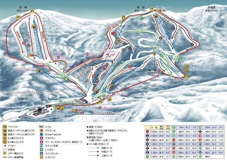 Kiroro滑雪场推荐滑道