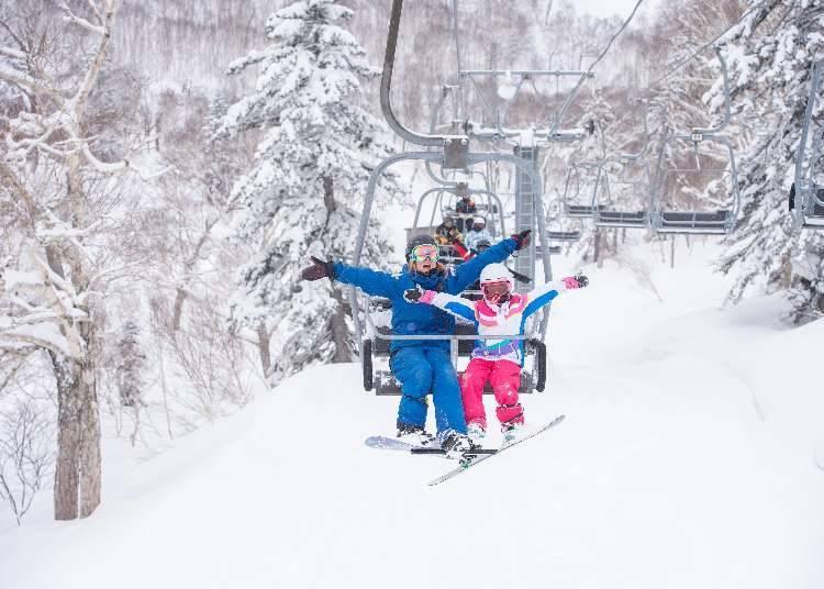 也有能夠對應英文、中文的滑雪課程