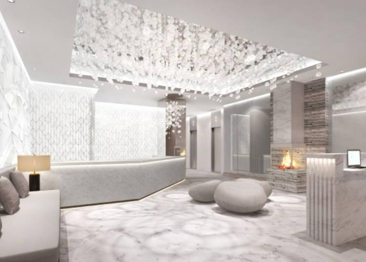 3.【クインテッサホテル札幌すすきの】一歩踏み入れると白銀の世界。北海道の四季がコンセプトのホテル