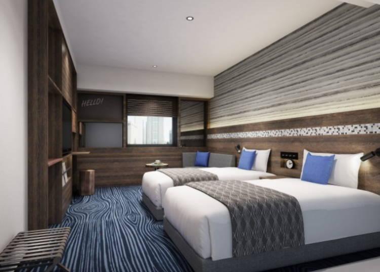 ■北海道の自然をイメージさせる客室