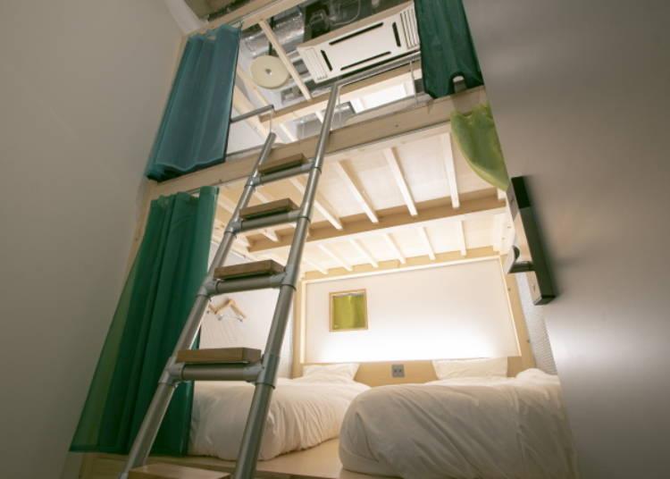 ■提供各種貼合旅客需求的膠囊房型、雙人房等