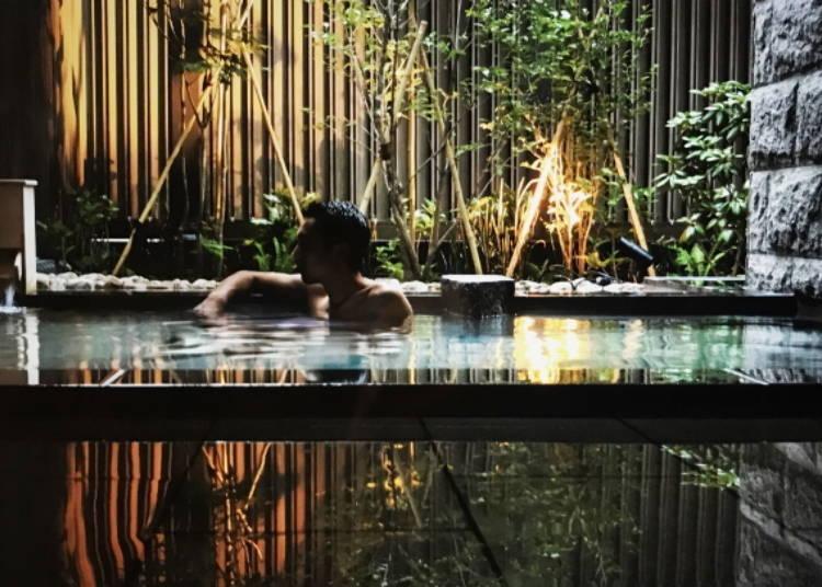 ■附設露天溫泉的大浴場