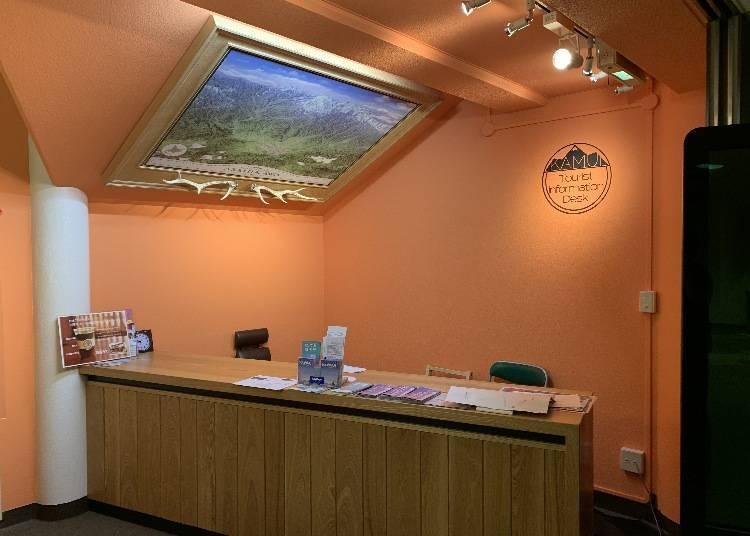 神居游客咨询中心:从休闲活动到观光由会说英、中文的工作人员来介绍