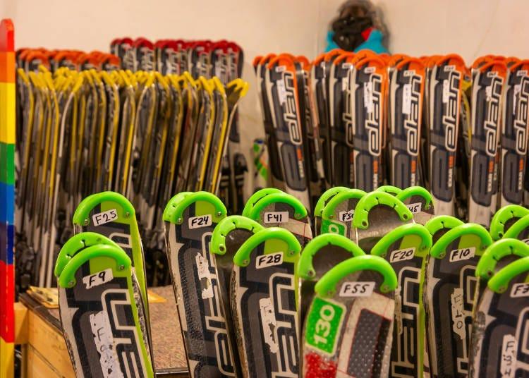 スキー・スノーボードの用具をレンタルするときのポイント