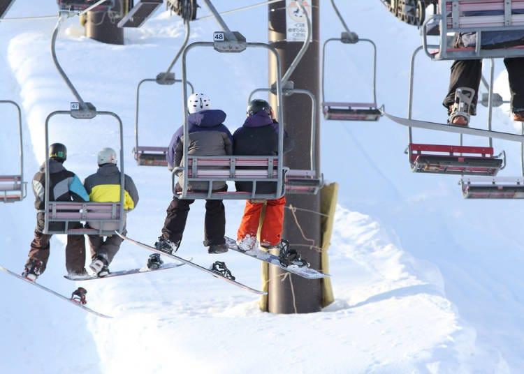 니세코의 스키 시즌중의 혼잡상황이나 날씨, 눈의 상태는?