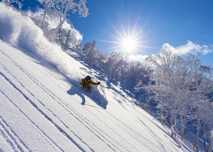 코스소개 : 37코스를 갖춘 스케일이 큰 스키장!